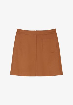 A-line skirt - chestnut brown