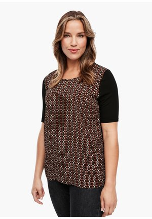 Print T-shirt - brown chain print