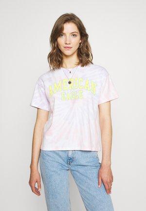 COLOR ON COLOR BRANDED - Print T-shirt - pink