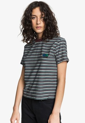 Print T-shirt - decadent choco stripe