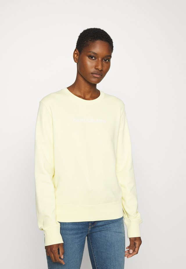 INSTITUTIONAL REGULAR CREW NECK - Sweatshirt - light yellow