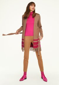 comma - Cardigan - camel placed strip - 1