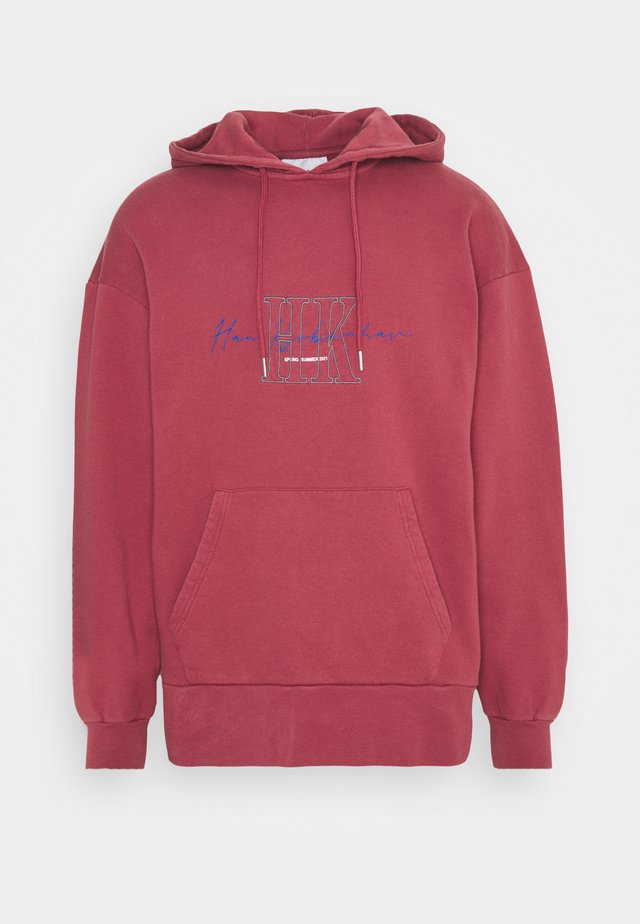 BULKY HOODIE - Sweatshirt - faded dark red