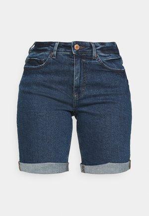 BOYFRIEND - Shorts vaqueros - dark blue denim