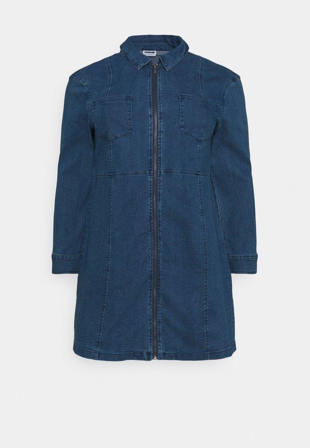 NMLISA ZIP DRESS - Jeanskjole / cowboykjoler - medium blue denim