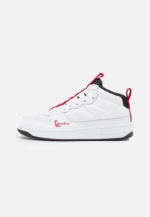 89 MID - Sneakers hoog - white/black/true red