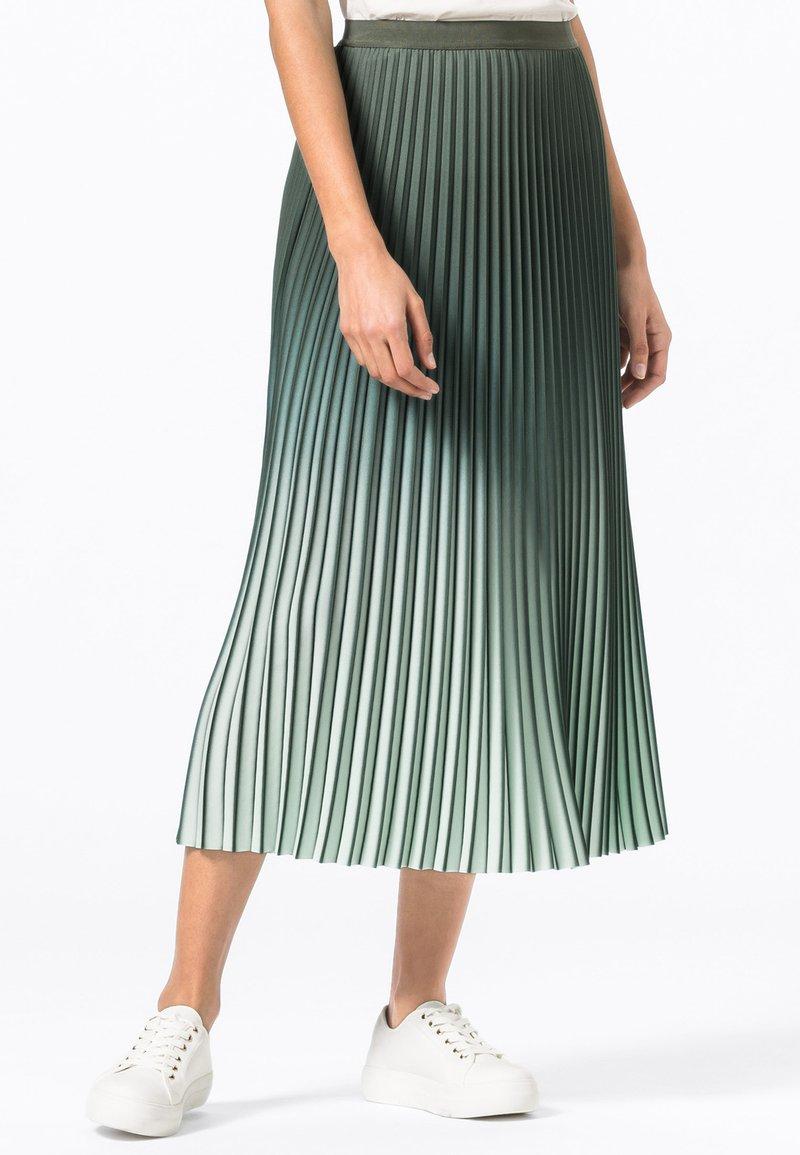 HALLHUBER - A-line skirt - seegrün