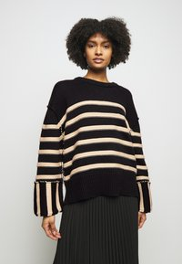 House of Dagmar - MAZZY ROUNDNECK - Maglione - black - 0