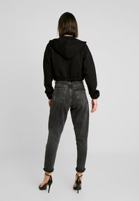 Nly by Nelly - CROPPED ZIP HOODIE - Sweatjacke - black - 2