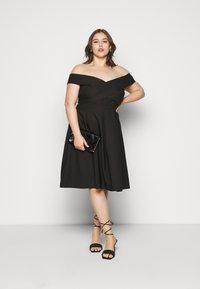 Chi Chi London Curvy - CURVE SEVDA DRESS - Cocktail dress / Party dress - black - 1