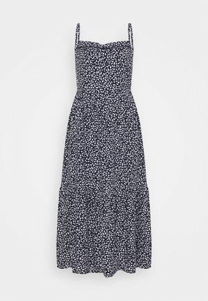 PRINTED TIERED - Robe d'été - dark blue