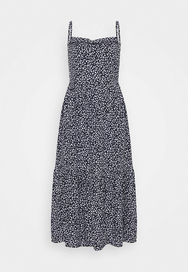 PRINTED TIERED - Vestido informal - dark blue