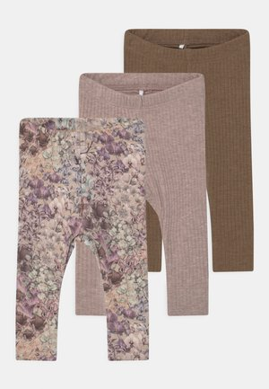 NBFFELLY/NBFFELLA 3 PACK - Leggings - Trousers - desert palm/col sphinx/whisper
