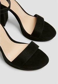 PULL&BEAR - Sandales à talons hauts - black - 5