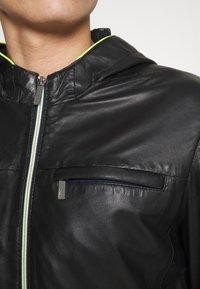 Oakwood - CORP - Leather jacket - noir - 5