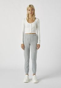 PULL&BEAR - Tracksuit bottoms - light grey - 1
