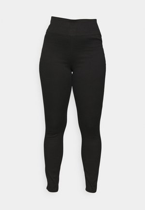 PCHIGHWAIST SOFT - Trousers - black