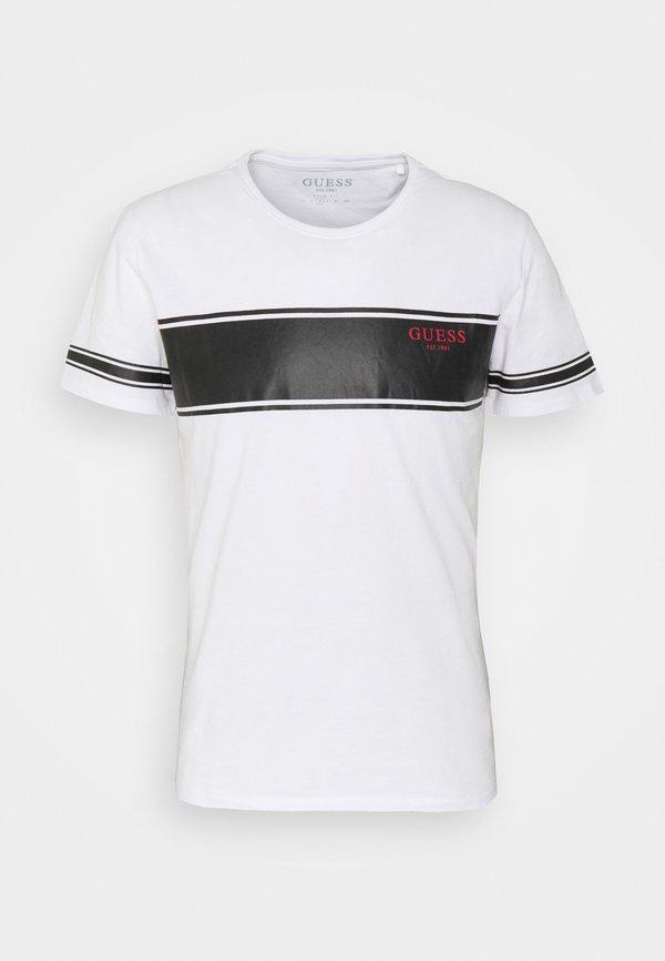 Guess TEE - T-shirt z nadrukiem - white/biały Odzież Męska AYGF