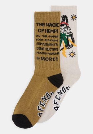 FOR THE WIZARDS 2 PACK - Chaussettes - beige/brown