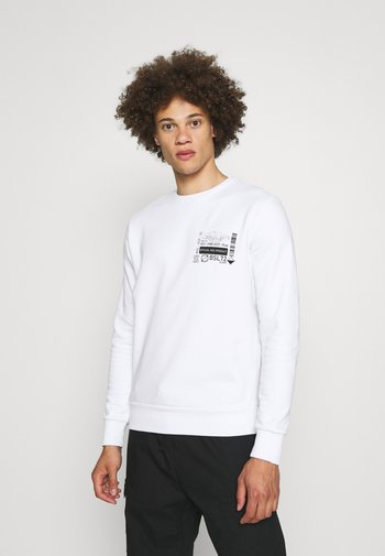 SAMWELL - Sweatshirt - optic white/jet black