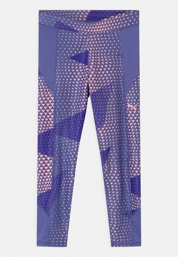 RUNTRAIN - Leggings - hazy blue/elektro peach