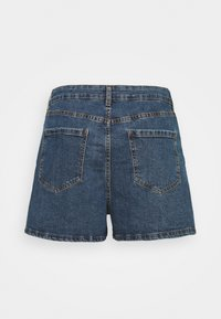 Cotton On Curve - HIGH WAISTED - Denim shorts - coogee blue - 7
