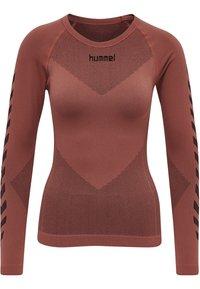 Hummel - FIRST SEAMLESS WOMAN - Long sleeved top - marsala - 5