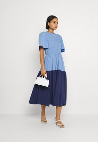 YAS - YASMARVIS LONG DRESS  - Maxi dress - cornflower blue/blue block - 1