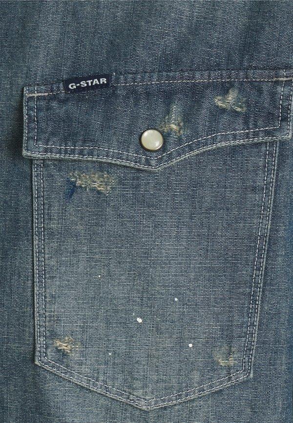 G-Star SLIM - Koszula - heavy lock chambray antic faded aegean blue/jasnoniebieski Odzież Męska IBGP