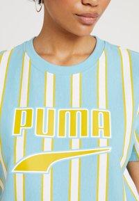 Puma - DOWNTOWN STRIPE TEE - Print T-shirt - milky blue - 4