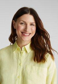 Esprit - Button-down blouse - lime yellow - 4