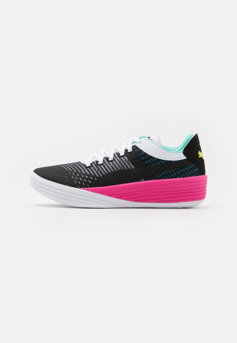 Puma - CLYDE ALL PRO - Basketball shoes - black/luminous pink