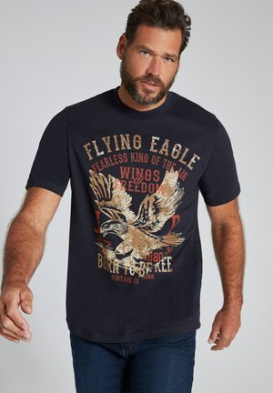 EAGLE, MANCHES COURTES  - Print T-shirt - bleu marine foncé