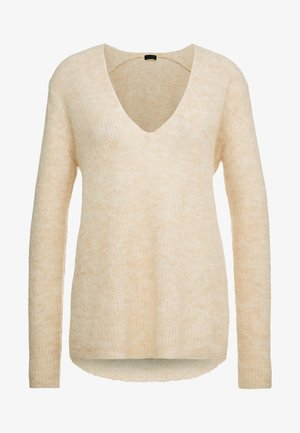 SELEN - Jumper - mottled beige