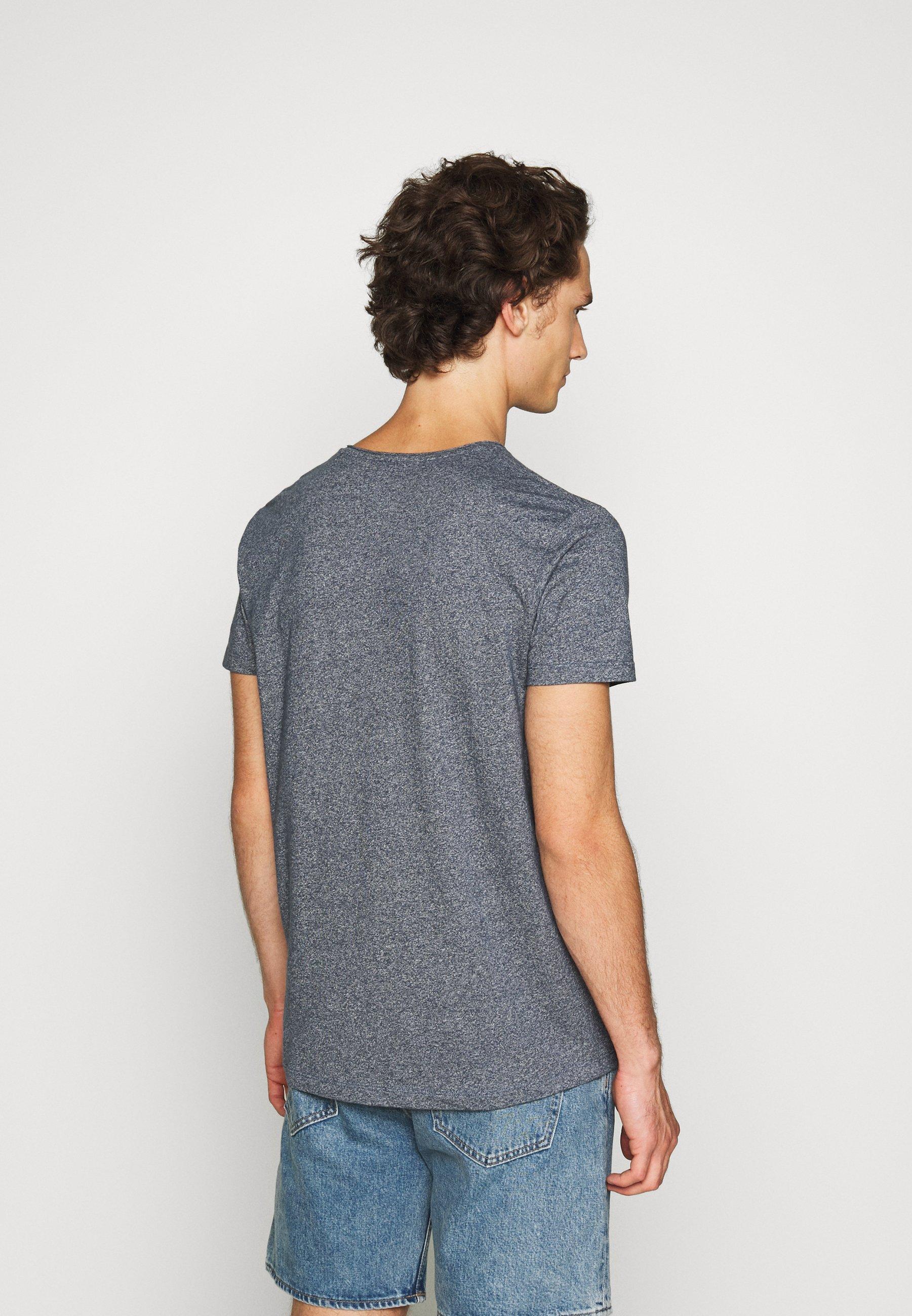 edc by Esprit GRIND - Basic T-shirt - navy r7yff