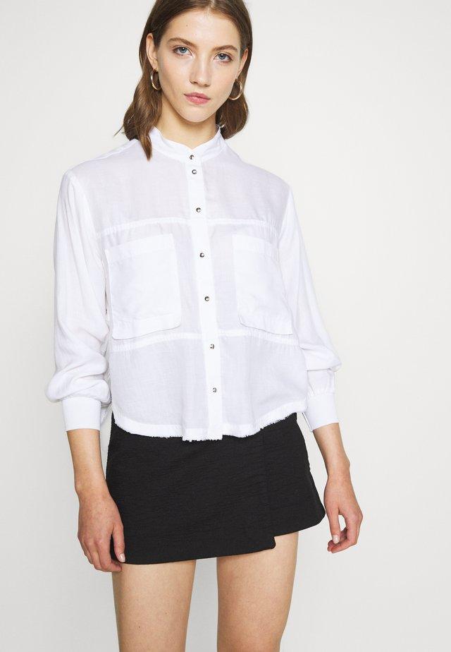 C-SUPER-E - Button-down blouse - white