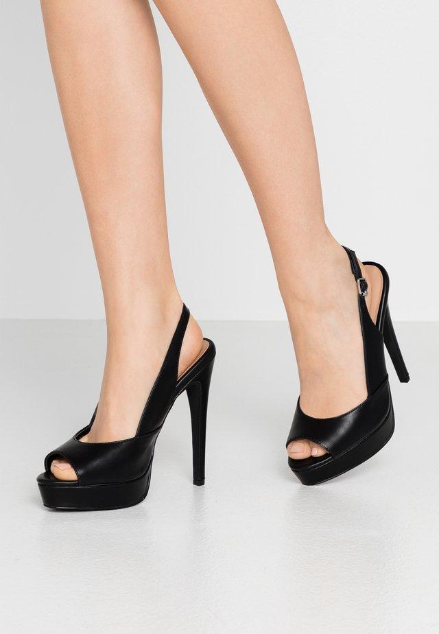High Heel Peeptoe - black