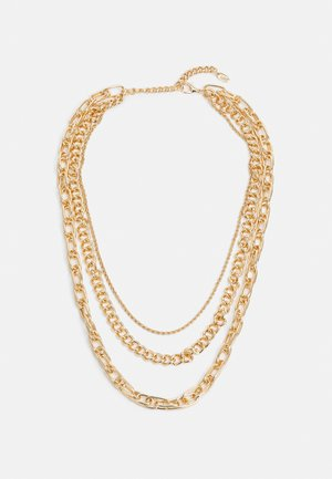 CHUNKY CHAIN MUTLIROW - Necklace - gold-coloured