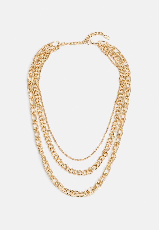 CHUNKY CHAIN MUTLIROW - Collier - gold-coloured