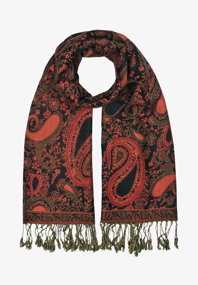 Sjaal - mehrfarbig gem. foto: schwarz & rot & grün