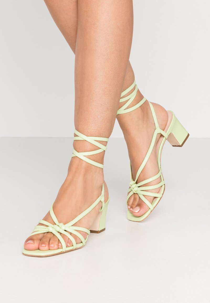 Loeffler Randall - LIBBY KNOTTED WRAP HEEL - Sandales - pistachio pista