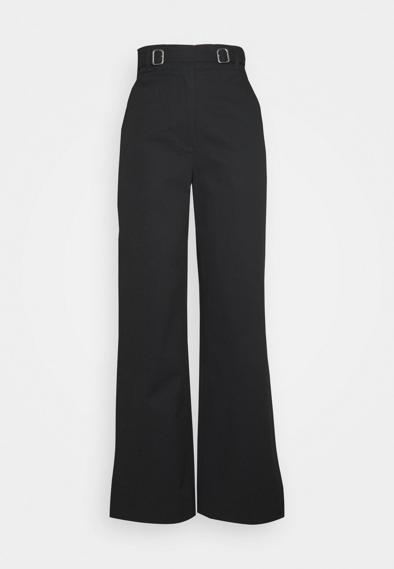 Proenza Schouler White Label - BELTED PANT - Trousers - black