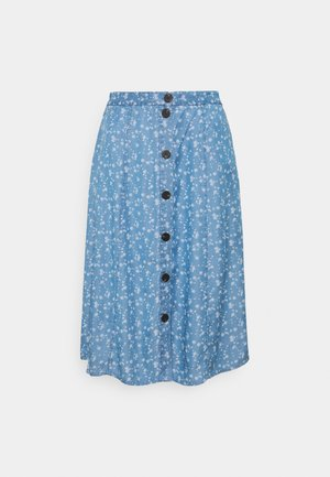 VIFLIKKA MIDI SKIRT - A-line skirt - medium blue denim