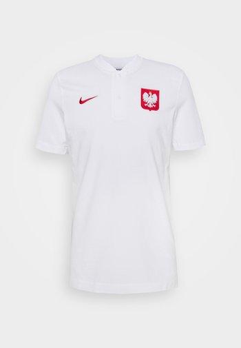 POLEN MODERN  - T-shirt med print - white/sport red