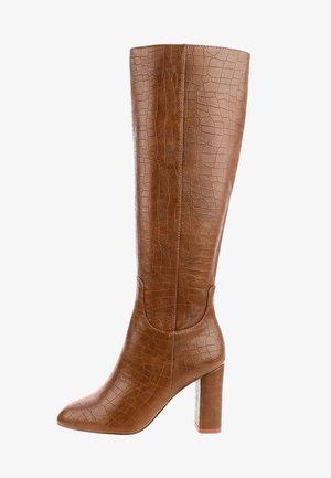 DEANGELIS - Kozačky na vysokém podpatku - brown