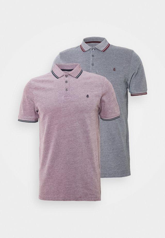 SHORT SLEEVE 2 TONE SUMMER 2 PACK - Polo shirt - burg