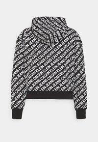 Calvin Klein Jeans - LOGO HOODIE - Hoodie - black/white - 6