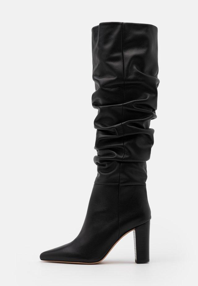 ISLAY - Laarzen met hoge hak - black