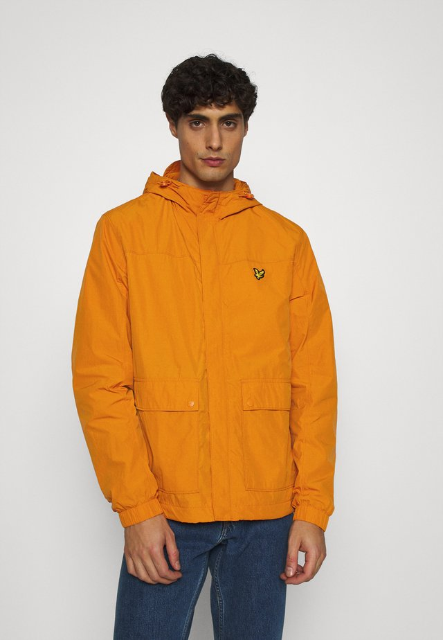 HOODED POCKET JACKET - Impermeabile - risk orange