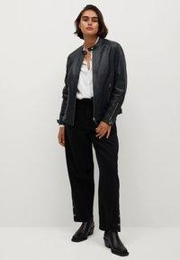 Violeta by Mango - CHELSEA7 - Leather jacket - dunkles marineblau - 1